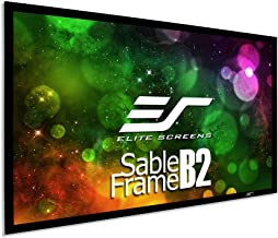 Elite Screens Sable Frame B2 110-INCH Projector Screen Diagonal 16:9 Diag Active 3D 4K 8K Ultra HD Ready Fixed Frame Home ...