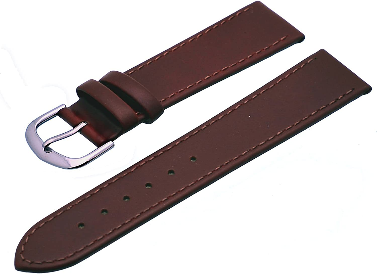 REV Black Brown Plain Pattern Leather Replac Watch Genuine price Sales for sale Strap
