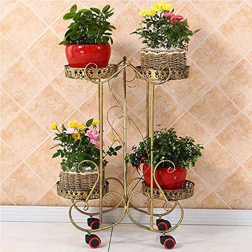 Stijlvolle eenvoud stijlvolle eenvoud bloem frame smeedijzer multi-layer binnen woonkamer stijlvolle eenvoud bloem standaard mobiele stijlvolle eenvoud bloempot plank ruimte groen opknoping orc Brons