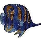 Parche de pescado tropical para coser en pantalones vaqueros camiseta chaqueta bordada insignia apliques