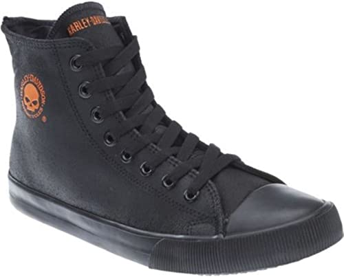 Harley Davidson Baxter Biker Hombre zapatos High Top Turnzapatos negro naranja Cuero 41