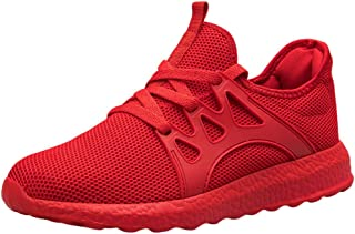GRIPY Sneakers for Men Fashion Casual Mesh Lace Up Solid Sport Running Shoes Lightweight Sneakers Sport Shoes for Men