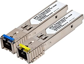 20km SFP BiDi 1G SC (Bi-Directional, WDM, 1.25Gbps, 20 km) DOM/DDM/DDMi SC (GLC-BX-D, GLC-BX-U, D/U, A/B, 1310/1550) Transceiver. Compatible, Reprogrammable. (lot= 1 Pair [2 modules])