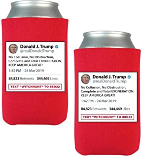 """Official Limited Edition Donald Trump""""No Collusion"""" Beverage Coolers (2 Pack)"""