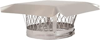 HY-C LC6 Round Stainless Steel Clamp on Single Flue Liner Chimney Cap, 6