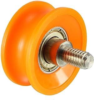 1Pcs metal V Groove Varilla roscada cojinete de la polea de la rueda 1,5/3 /2,5/3,7/4,5 mm profundo 6X22X8 /6X27X9 /6X30X13 /8X40X10 /8X50X12mm 6X27X9mm 3 mm Profundo