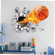 LAVALINK 3D Etiqueta De La Pared De Fondo Baloncesto a Través De La Pared Pegatinas TV Extraíble Salón Dormitorio Adhesivo...