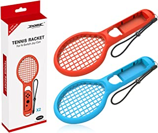 FineraTennis Racket Compatible with Nintend Switch, Twin Pack Tennis Racket Compatible with N-Switch Joy-Con Controllers f...