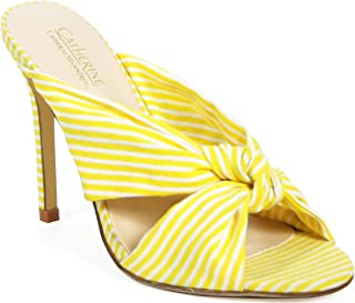 Boatie Womens Fashion Adorable Knotted Striped Stiletto Heel Sandal
