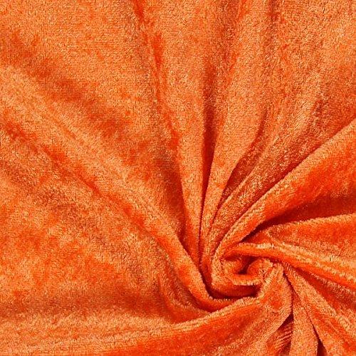 Fabulous Fabrics Pannesamt orange – Weicher Samt Stoff zum Nähen von Kleider, Oberteile, Tücher und Tischdecke - Pannesamt Dekostoff & Bekleidungsstoff - Meterware ab 0,5m