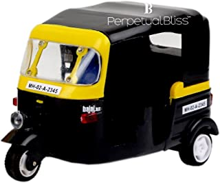 Perpetual Bliss Auto Rickshaw Toys for Kids with Pull Back Action/Birthday Return Gifts (Dimension)cm:7x13x8