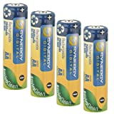 Synergy Digital 2800 mAh NiHM AA Rechargebale Batteries (Pack of 4)
