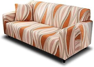 comprar comparacion HOTNIU Funda Elástica de Sofá Funda Estampada para sofá Antideslizante Protector Cubierta de Muebles (Cuatro Plazas, Model...
