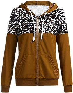 Women's Full Zip Drawstring Long Sleeve Pockets Hoodie Sweatshirt