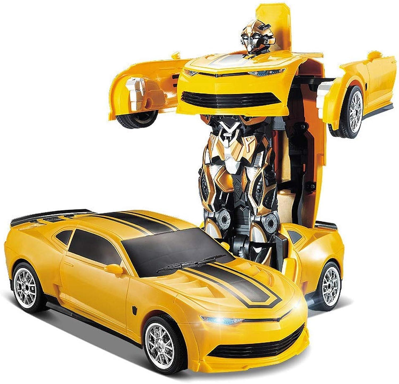100% garantía genuina de contador Kikioo amarillo Body 1 13 RC Electric Juguete Voice - - - Detección Transformación con un botón Modelos Autobots Remoto inalámbrico Autos deportivos 4WD Sonido y luz Grand Sport Vitesse Stunt Vehicle For Boy Ni  colores increíbles