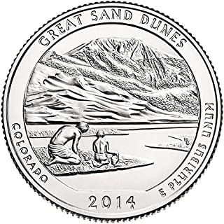 2014 S Silver Proof Great Sand Dunes Colorado National Park NP Quarter Choice Uncirculated US Mint