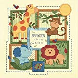 """Dimensions Baby Hugs Savannah Birth Record Counted Cross Stitch Kit, Baby Shower Gift, 12"""" x 12"""""""