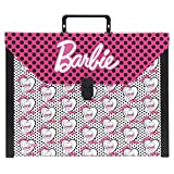 Barbie Mallette Scolaire 40 cm Multicolore (Rose/Noir/Blanc)