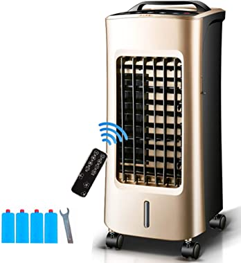 Air Cooler with Remote Control, Dehumidifier and Purifier, 3 Speed Settings with 5L Water Tank, 75WLow Energ,Quiet,100 Square Foot Effective Range