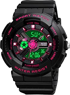 Womens Digital Sports Watch Large Face Sports Outdoor...
