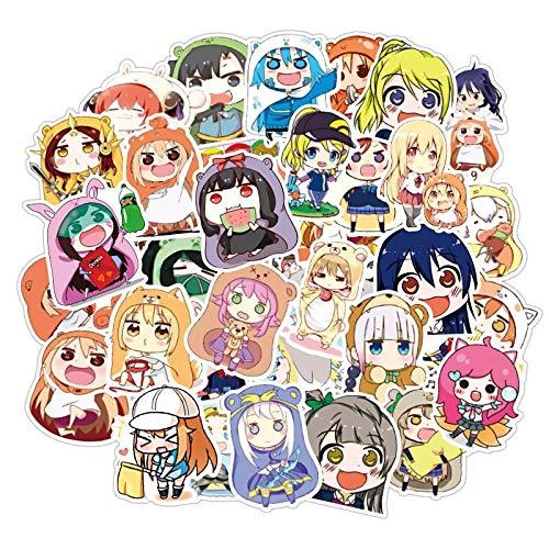 50 Piezas Anime Rascal no sueña con Bunny Girl Senpai Pegatinas Sexy Anime Girls MAI Sakurajima Pegatina para monopatín portátil