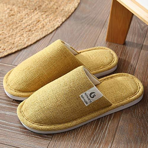 B/H Pantunflas Invierno,Zapatos para el hogar Antideslizantes para Interiores, Pantuflas para el hogar con Suela Blanda-I_36-37,Slippers Suave