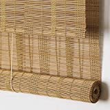 Outdoor Bamboo Window Shades Blinds, Waterproof Wood Roller Shades With 6 Inches Valance, Light Filtering Roll Up Sun Shades Window Blinds for Patio, Doors, Porch, Balcony,Gazebo,Pergola,Deck Color4