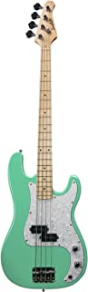 Sawtooth 4 String EP Series Electric Bass Guitar, Surf Green w/White Pearloid Pickguard, Right Handed (ST-PB-SGRP
