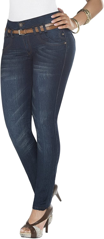Equilibrium Colombian Design Skinny MidRise Jean J8583  Jean Colombiano Levanta Cola