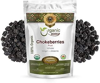 Organic Way Chokeberries Fruit/Aronia Berry Whole (Aronia melanocarpa) - European Wild-Harvest | Organic & Kosher Certifie...