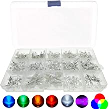 Bestgle 475pcs 3mm and 5mm LED Lights Emitting Diodes Diffused Round LED Lamp Diodes Assortment Kit for Arduino DIY Project - White/Red/Blue/Green/Yellow/UV/RGB