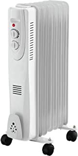 Rack & Pack Calentador Calefactor Aceite Termostato Ajustable 3 Niveles Hogar Oficina Blanco