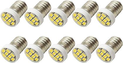 Ruiandsion 10 stks 12 V E10 Base LED Upgrade Lamp 1210 8SMD Chipsets 0.5W Vervanging voor Koplampen Zaklampen Zaklamp Lamp...