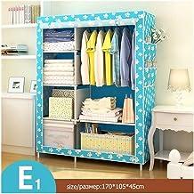 Portable Wardrobe Bedroom Multipurpose Non-Woven Cloth Wardrobe Folding Portable Clothing Storage Cabinet Dustproof Cloth ...