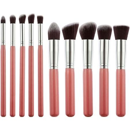 Generic Foundation, Eyeshadow Makeup Brush Set, Pink (Set Of 10), 100 g