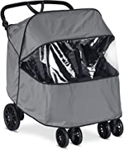 Britax B-Lively Double Stroller Wind and Rain Stroller   Easy Install + Air Ventilation + Storage Pouch Included