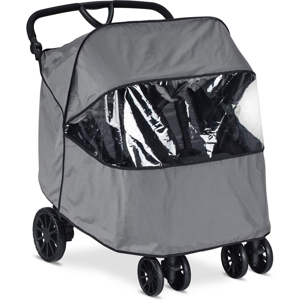 Britax B-Lively Double Stroller Wind and Rain Shield - Air Ventilation - Storage Pouch Included