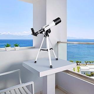 BLAPOXE Impressive Land & Sky Telescope - Optical Glass & Metal Tube Refractor Telescope (90X Power)