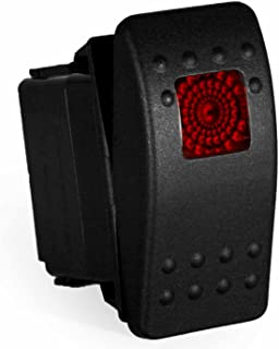 Contura II Carling Rocker Switch - Illuminated Red or Blue - V1D1, SPST, 3 terminals, Sealed, Waterproof, dusproof, 12V dc