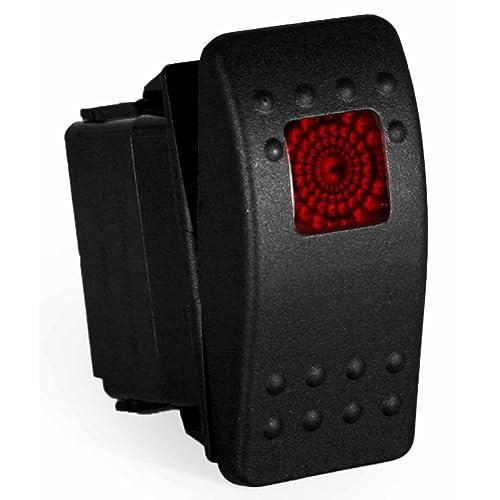 carling rocker switch - illuminated red or blue - v1d1, contura ii, spst,