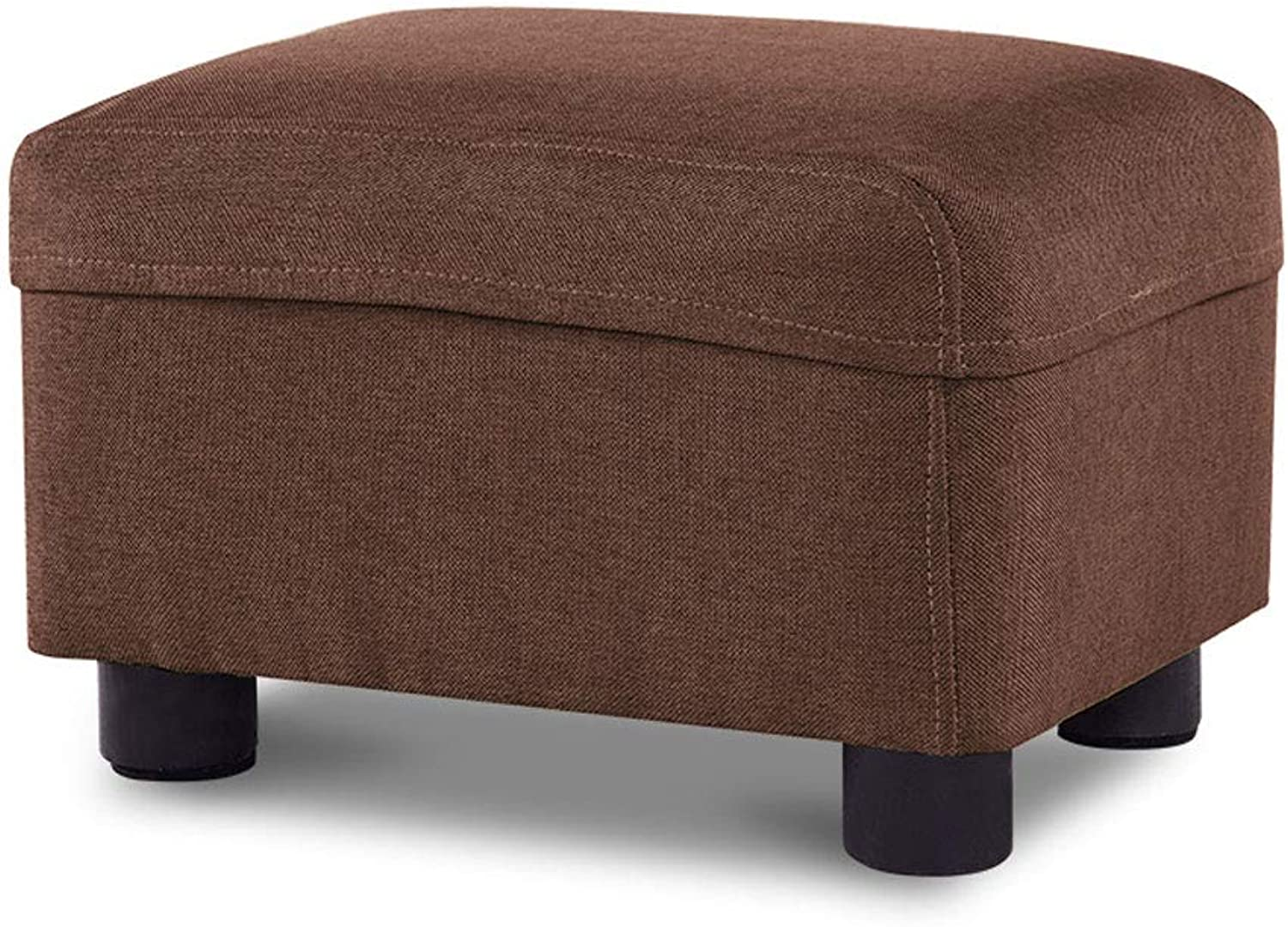 Fabric Stool Home Square Washable Multi-Function Solid color Small Bench V (color   Brown, Size   L37CMXW27CMXH24CM)