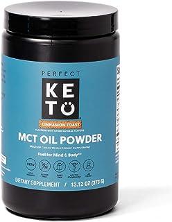 Perfect Keto MCT Oil Powder: Ketosis Supplement (Medium Chain Triglycerides, Coconuts) for Ketone Energy. Paleo Natural No...