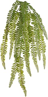2 Artificial Hanging Plant Boston Ferns for Home Décor   30