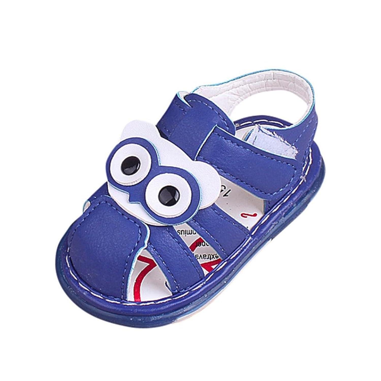 ベビーシューズ Mangjiu 幼童 男女童漫画 メガネ通気学步靴滑り止め運動靴幼児靴