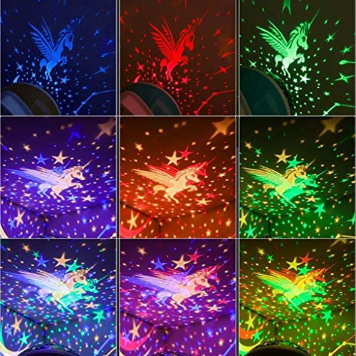 Star Master proyector LED luz de Noche 360 Grados Cielo ...