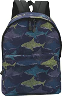 16 Inch Kid Backpack Cute Fun Shark Patterned School Bags for Boys and Girls
