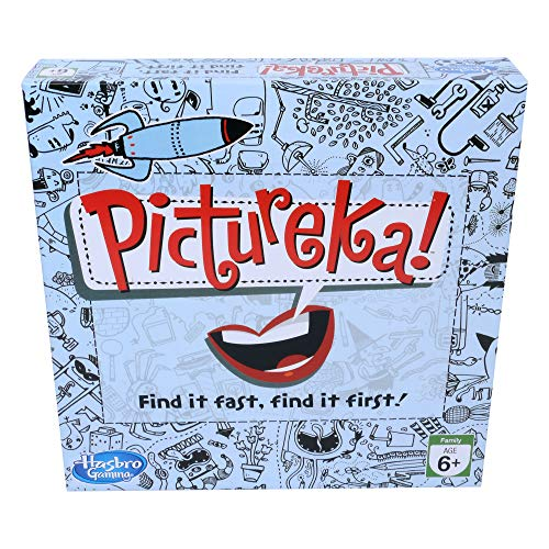 Hasbro Gaming Pictureka! Board Game for Family and Kids Ages 6 and Up, Indoor Classic Game, Pack Of 1, Multicolor
