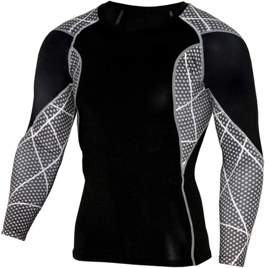 Easytoy Men Shirts, Men's Thermal Wintergear Compression Baselayer Long Sleeve Tops (Black, Asian Size:S)