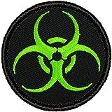 Neon Green Biohazard Warning Patrol Patch - 2' Round