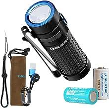 Olight S1R II 1000 Lumen Rechargeable EDC Pocket Flashlight with Olight Rechargeable Battery and LumenTac CR123A Backup Ba...